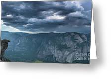 Ominous Clouds Over Glacier Point Greeting Card