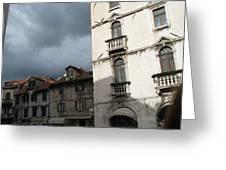 Ominous Sky In Croatia Greeting Card