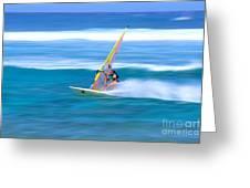 On A Calm Blue Ocean Greeting Card