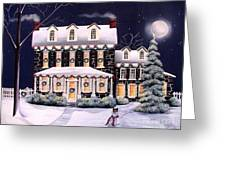 On A Cold Winter Evening Greeting Card