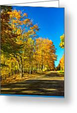On A Country Road 4 - Paint Greeting Card