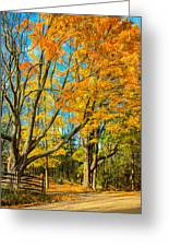 On A Country Road 5 - Paint Greeting Card