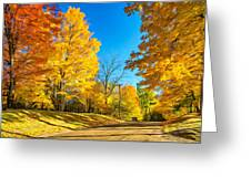 On A Country Road 6 - Paint Greeting Card