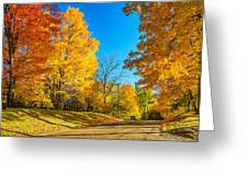 On A Country Road 6 Greeting Card