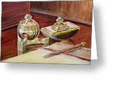 On A Desk At Eugene O Neill Tao House Greeting Card