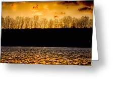 On A Golden Lake Greeting Card