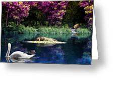 On A Lake Greeting Card by Svetlana Sewell
