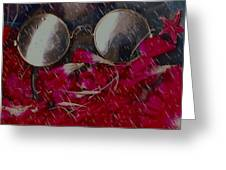 On A Rainy Day Its Fine To Be Inside Greeting Card