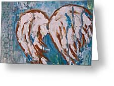 On Angel Wings Greeting Card