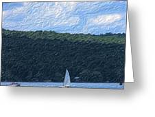 On Cayuga Lake Greeting Card