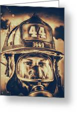 On Duty And Into Fire_dramatic Greeting Card
