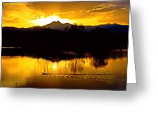 On Golden Ponds Greeting Card