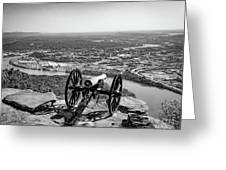 On Guard At Point Park Lookout Mountain In Tennessee Greeting Card