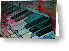 On Key - Keyboard Painting Greeting Card by Susanne Clark