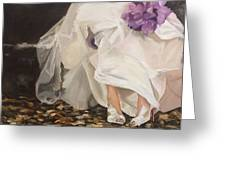 On My Easel Greeting Card by Denise H Cooperman