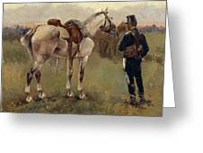 On Patrol In The Country Greeting Card