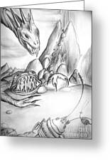 On Planet Of Monsters Greeting Card