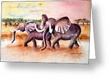 On Safari Greeting Card