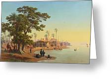 On The Banks Of The Nile Greeting Card