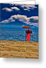 On The Beach At Coney Island Greeting Card