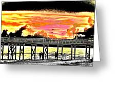 On The Beach Greeting Card by Bill Cannon