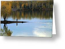 On The Bend Of The River Greeting Card
