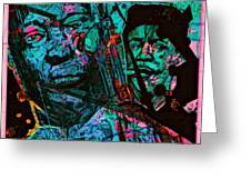 On The Blues Highway With Leadbelly And Muddy Waters Greeting Card