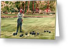 On The Bowling Green Greeting Card