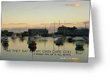 On The Cape Quote Greeting Card