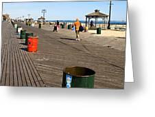 On The Coney Island Boardwalk Greeting Card