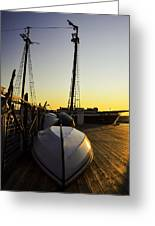 On The Dock Of The Sullivan Greeting Card