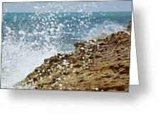 On The Edge Blowing Rocks Preserve Jupiter Island Florida Greeting Card