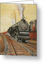On The Great Steel Road Greeting Card by Christopher Jenkins