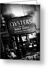 On The Half Shell - Bw Greeting Card