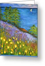 On The Hillside Greeting Card
