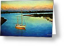 On The Intracoastal Isle Of Palms Sc Greeting Card