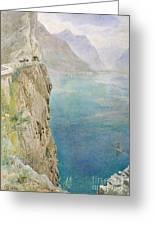 On The Italian Coast Greeting Card by Harry Goodwin