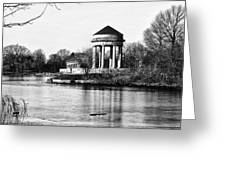 On The Lake At Fdr Park Greeting Card