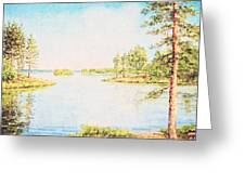 On The Lake In A Sunny Day Greeting Card