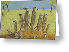 On The Lookout Greeting Card