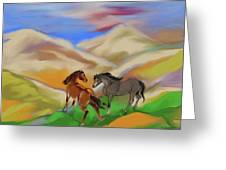 On The Mountian Greeting Card