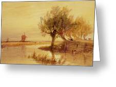 On The Norfolk Broads Greeting Card