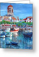 On The Old Harbor Greeting Card