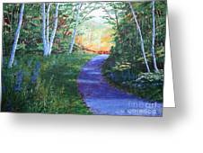 On The Path Greeting Card