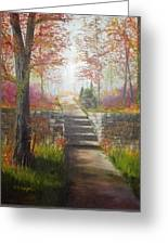 On The Right Path Greeting Card