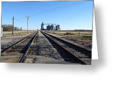 On The Right Tracks Greeting Card