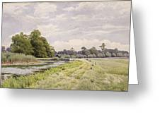 On The River Ouse Hemingford Grey Greeting Card by William Fraser Garden