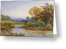 On The River Parret Greeting Card