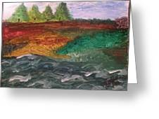 On The River's Edge Greeting Card