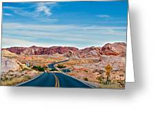 On The Road - Valley Of Fire Greeting Card